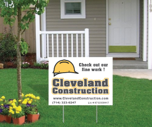 Plastic Lawn Signs
